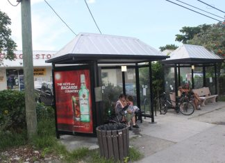 #News: Shelter across from Publix to be removed   - A group of people on a sidewalk - Public space