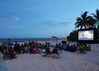 #DayTripping: Key West Outdoor Movies - A group of people riding horses on a beach - Beach