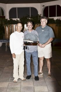 Tournament champ Gene Ford set a record by catching 33 fish on the first day of the tournament. In all, he caught 63 fish with Capt. Albert Ponzoa at the helm. His trophy was sponsored by Specialty Hardware.