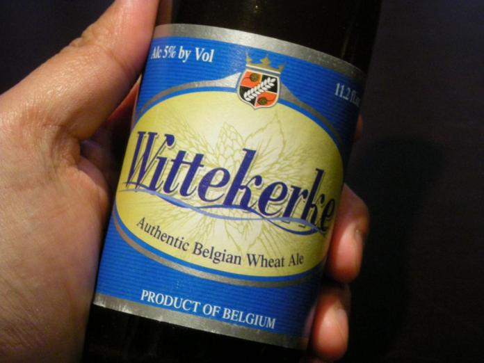 #GetYourDrinkOn: Wittekerke 'goes good' with eggs - A hand holding a bottle - Beer