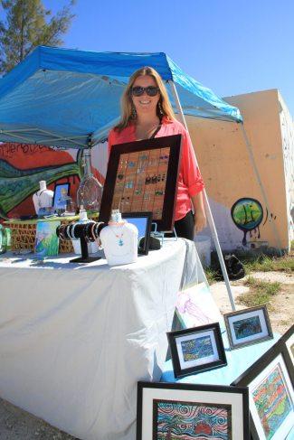 Miranda Murphy sells her wares on the property at her 'Miranda's Veranda.'