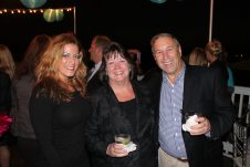 The Westin's Lourdes Torbisco and General Manager Diane Schmidt, along with the Sheraton's Bob Grossman chat at the party. Diane presented the award for Key West Lodging Property of the Year to Bob later in the evening.