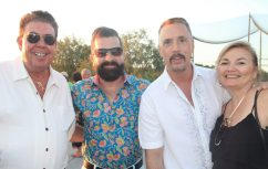 Tim Greene, left, Shane Hall, Sam Trophia and Deb Bent attend.