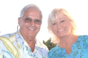Key West Mayor Craig Cates and wife Cheryl were on hand to welcome the animal lovers to the golf course greens.