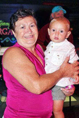 Pola and grandson Ryder dance to 'Still A Lot of Magic in Key West.'