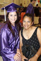 Marathon High School's Dayle Labrada and mentor Lizzette Ramos celebrate Dayle's achievement.