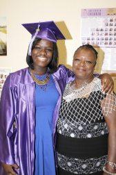 Antonisha Gaston of Coral Shores gives grandma Kathy Johnson a hug. Gaston will be serving in the U.S. Air Force.