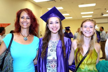 Mom Debbie Kleinman with her daughter, KWHS graduate Alexa Dawson, who will be studying psychology at Valencia and will transfer to UCF. They are with friend Olivia Mealor, who is a 2013 Take Stock graduate studying biology at New College of Florida in Sarasota.