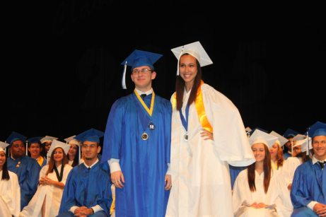 Zach Perry and Zamaida Ricart receive the Alpha Delta Kappa Scholarship, presented by a teacher group to students interested in pursuing a career in education.