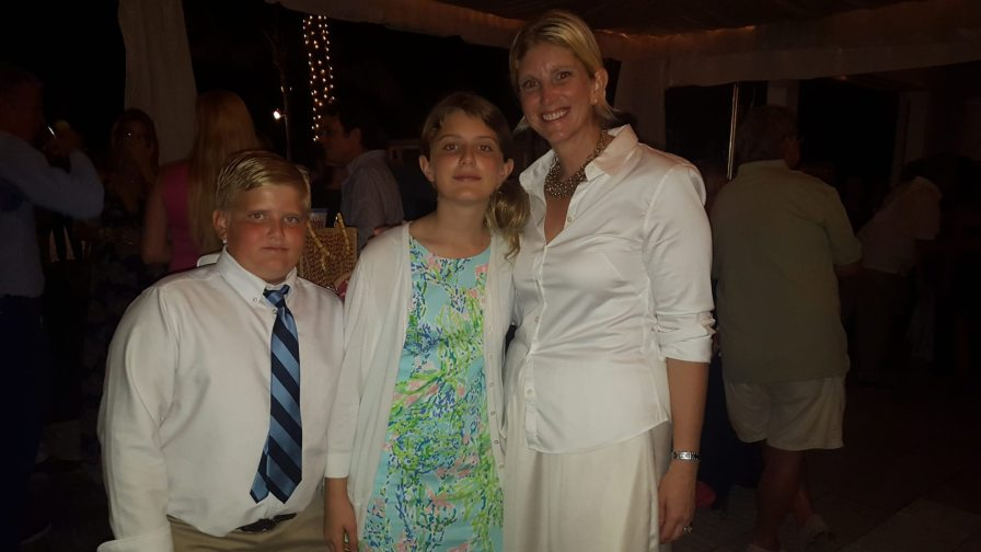 Shannon Musmanno brought her favorite dates to the party. Seen here with daughter Cornelia and son, Gus.