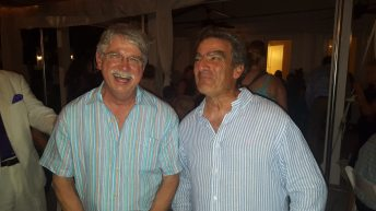 Key West City Commissioner Jimmy Weekley and the man of the hour—Michael Halpern enjoy an evening of fellowship and fundraising.
