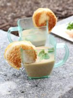 The lobster bisque with bite-sized grilled cheeses is the creation of the culinary team at One Duval Restaurant, at Pier House Resort.