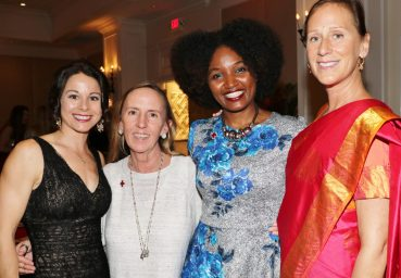 Event coordinator Liz Love, past honoree Holly S. Merrill, American Red Cross Officer Stephanie Moraille, and Wendy Gerber help celebrate Whitt and Beaver's induction.