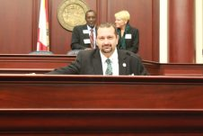 Marathon City Councilman Mark Senmartin appeared extremely comfortable sitting in the House of Representatives chambers.