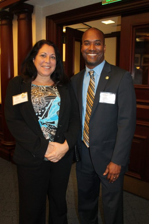Village of Islamorada Manager Maria Aguilar and Islamorada Village Attorney Roget Bryant at Florida Keys Day.