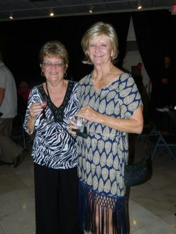 Realtor Stacy Kidwell, right, and Barb Cowen of AHEC, enjoy the festivities.