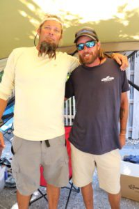 Kendall Klay and Doug Hattendorf spread the word about MamaOcean and the cleanups.