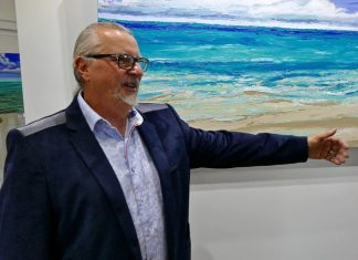 Pantaleo's dream gallery showcases passion for local art movement - A man standing in front of water - Martin Truex Jr.