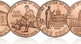 Going after the fourth penny - A close up of a logo - Lincoln cent