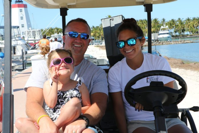 Mia's Big Heart and Big Birthday - A person in sunglasses sitting in a boat - Sunglasses