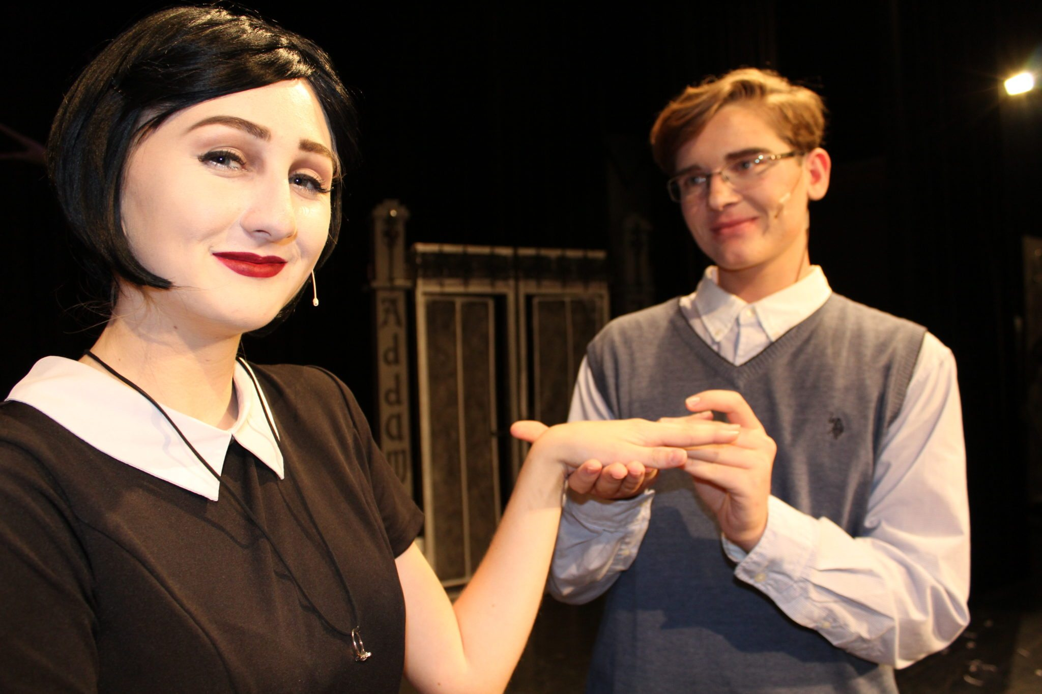 Ariana Patterson and Aaron Tipsword are star-crossed lovers in this musical.