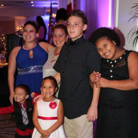"""Hanna Hernandez, mother of four, is now in a good place with her family because of Samuel's House. """"I knew we found a home when we were at Samuel's House,"""" said her son Julian. """"Friends became family, and they provided us with a place to sleep and play."""""""