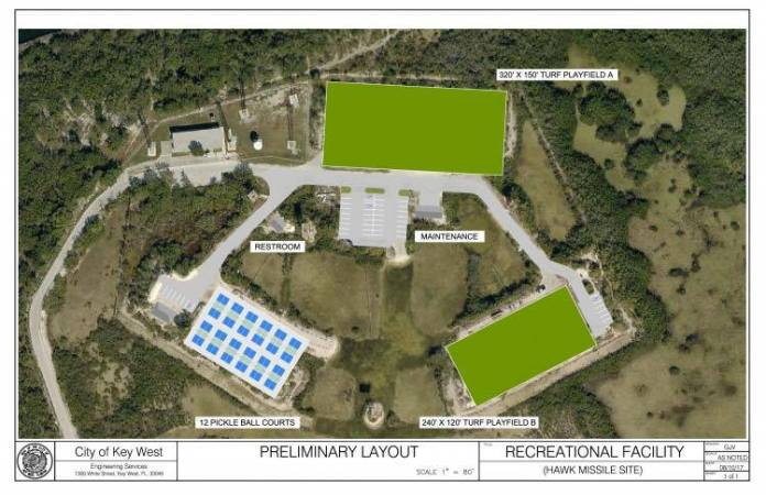 Preliminary layout for Hawk Missile Site.