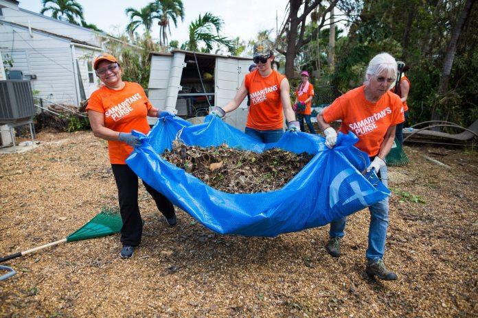 Volunteers in the Keys after Hurricane Irma
