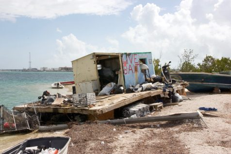 The government has removed all the hurricane-damaged boats except the Bait Shack