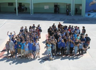 Coral Shores Class of 2018 - A group of people in front of a crowd posing for the camera - Coral Shores High School