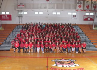 KEY WEST CLASS OF 2018 - A group of people on a court - KEY WEST HIGH SCHOOL