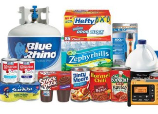 Hurricane  Home Supplies - A bottle of items in it - Hurricane preparedness
