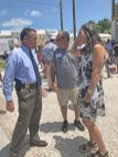 Monroe County Sheriff Rick Ramsay speaks with Florida Keys Land Trust founder Maggie Whitcomb.