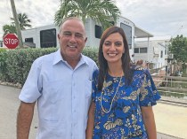 State Rep. Jeanette Nuñez, right, was in Marathon on Sept. 10 to see and celebrate the recovery process since Hurricane Irma. Late last week, she was named as Republican candidate for Governor Ron DeSantis' running mate. Nuñez represents district 119 encompassing West Kendall, but owns a second home in Islamorada next to Monroe County Administrator Roman Gastesi.