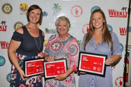 The Hyatt Faro Blanco has been a big winner in 2017 and 2018. General Manager Karen Thurman, center, is joined by Ashley Keeney, left, and Andrea Robinson. The resort won in three categories: Best Place to Have a Wedding, Best Margarita, and Best Marina.