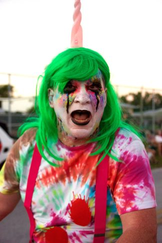 It's not all rainbows and glitter for this zombie unicorn. Scott Barry is that you?