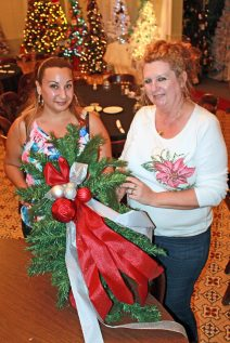 Sherry Alana, left, is the chairperson of the service team putting on this event and Tara Morris is the vice president of the Zonta Club. For these women, the Festival of Trees is a labor of love to support the group's mission.