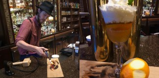 Flagler's Sidecar - A person sitting at a table with a glass of wine - Henry Flagler