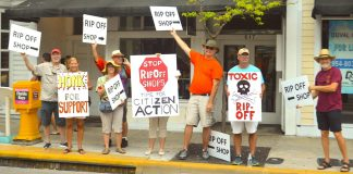 The Cosmetic Controversy: Anti-Sentimism & Legal Vulnerability in Key West? The Whole Story Behind Sam Kaufman's Cosmetic Vote. - A group of people holding a sign - Picketing