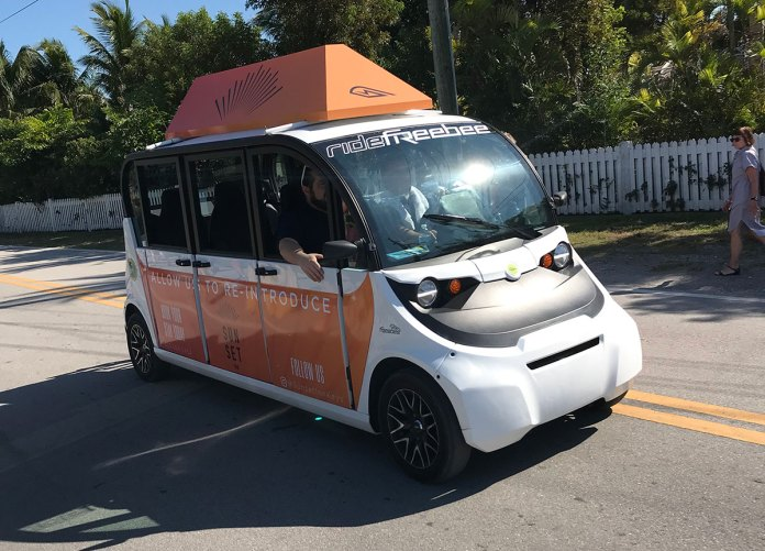 Freebee: The Environmental Shuttle that Might Change Transportation in the Keys - A truck cake sitting on top of a car - Car