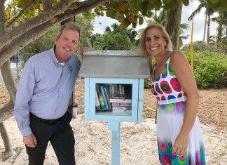 A Secret Little Library Hidden Next Door - A little girl posing for a picture - Florida Keys