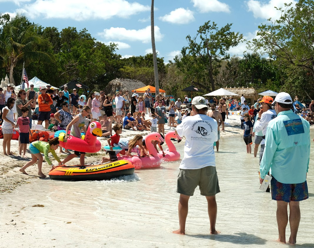 Island Fest in Islamorada: Cool Music and Hot Cars - A group of people standing in front of a crowd - Festival
