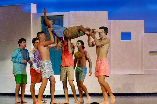 Mamma Mia' comes alive at MHS this weekend - A group of people posing for a picture - Mamma Mia!