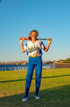 12 year-old middle school student Caylie Globe often faces varsity opponents. BARRY GAUKEL/Keys Weekly