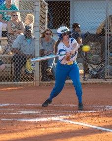 Esmeralda Prieto takes a swing. BARRY GAUKEL/Keys Weekly