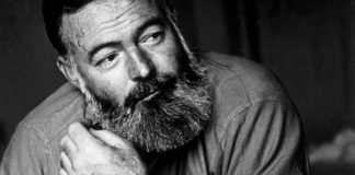 The Trouble with Hemingway … and Women - Ernest Hemingway with his mouth open - Ernest Hemingway