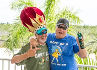 2019 Bubbas Marks Six Years of Fierce Rivalries – Some Key West People's Choice Awards Belong to One - A person talking on a cell phone - Florida Keys