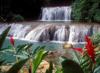 Jamaica in 24 Hours: An island adventure in a day - A large waterfall over some water - YS Falls