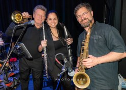 90 miles closer – Havana Nights Heats up the Stage at Key West Theater - A group of people posing for the camera - Baritone saxophone