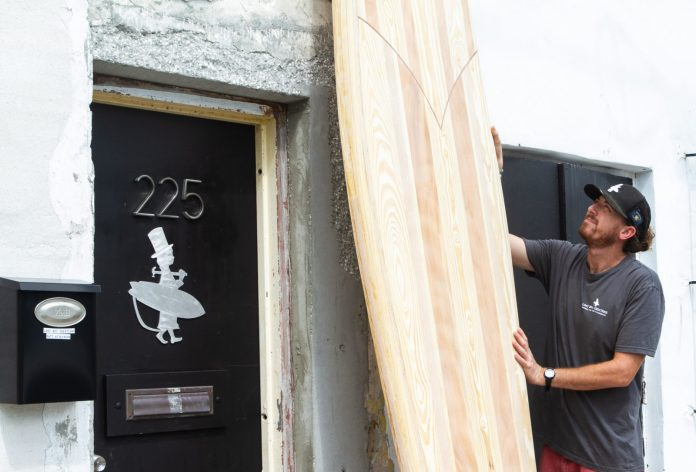 - A man standing in front of a door - 2018 Fantasy Fest